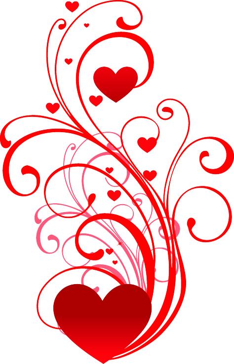 Узор из сердечек